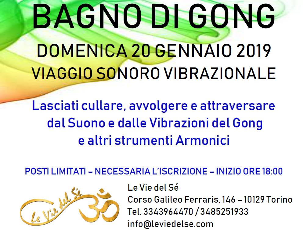20 Gennaio 2019 - Bagno di Gong @ Le Vie del Sè - Torino